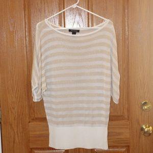 White Market Black Market white and tan shimmer